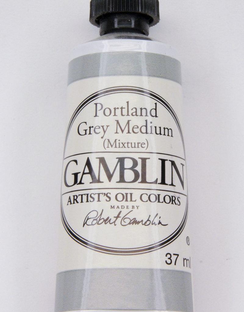 Gamblin Oil Paint, Portland Grey Medium, Series 2, Tube 37ml