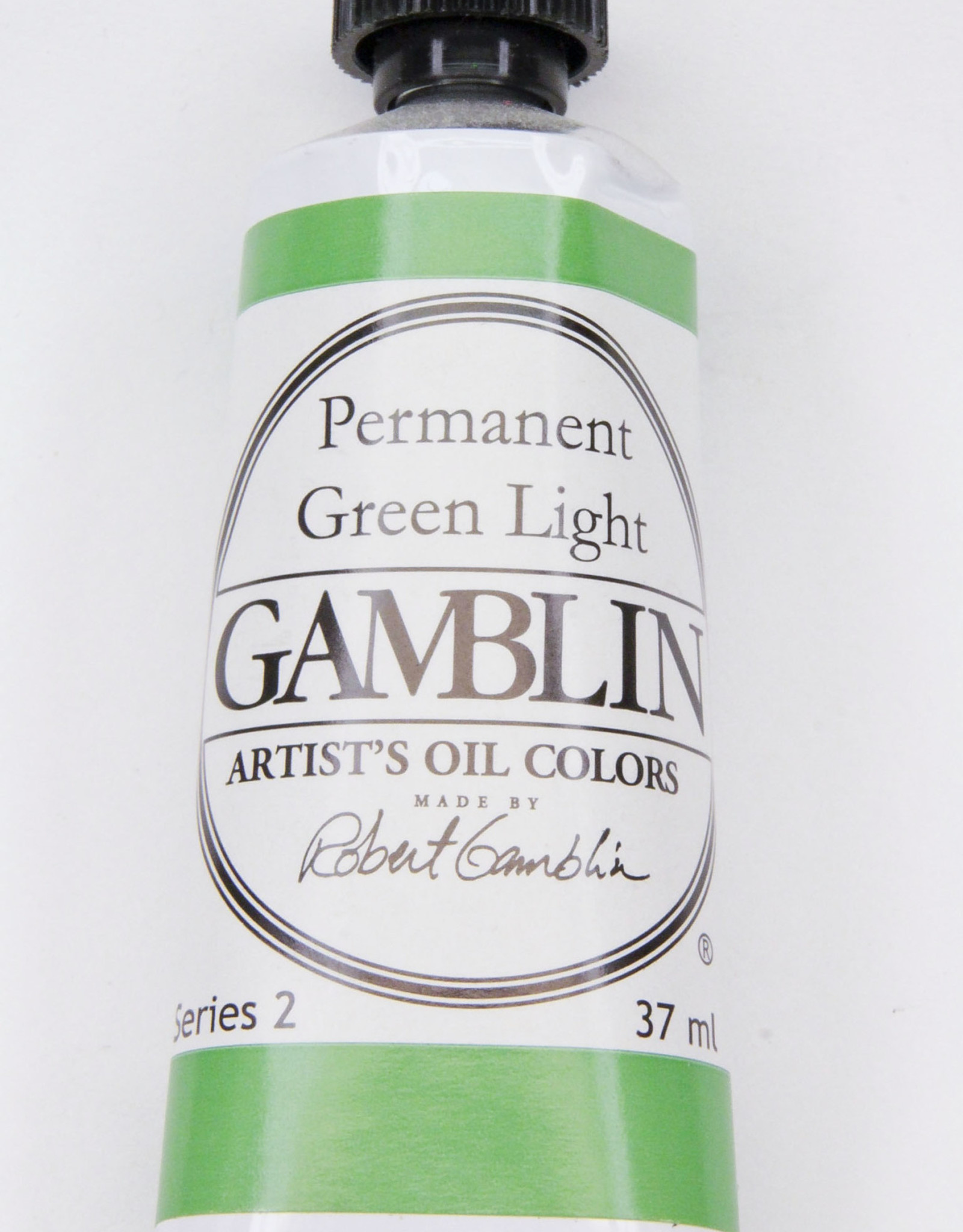 Gamblin Oil Paint, Permanent Green Light, Series 2, Tube 37ml