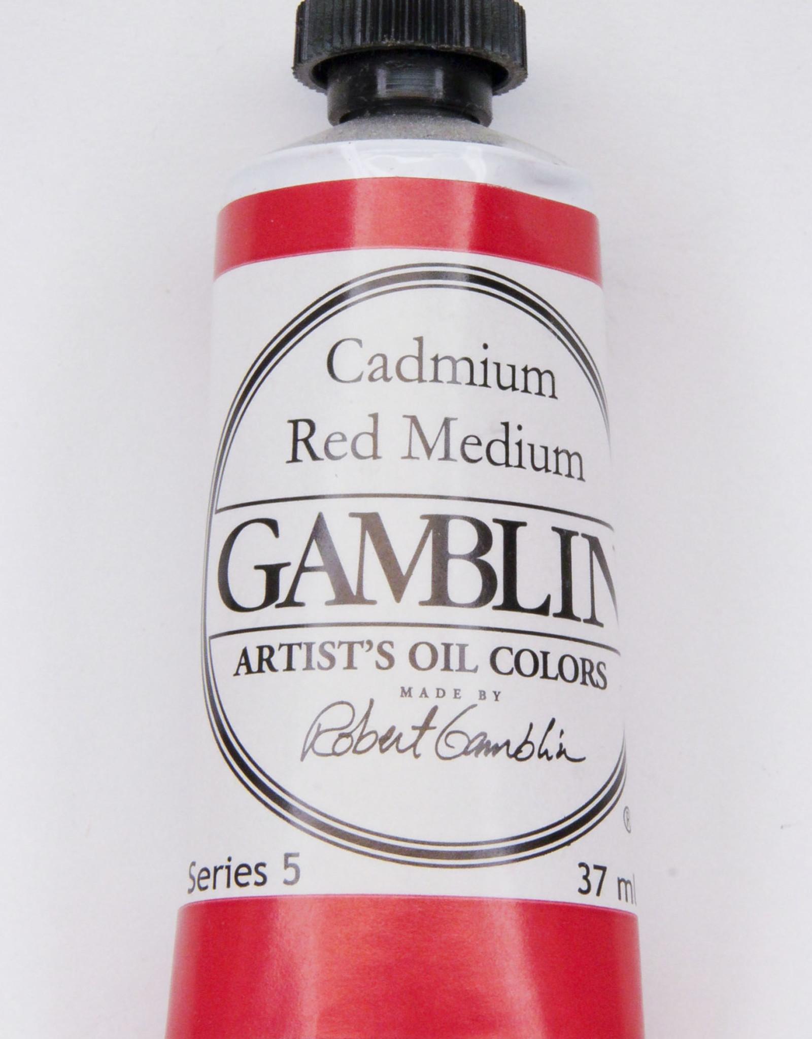 Gamblin Oil Paint, Cadmium Red Medium, Series 4, Tube 37ml