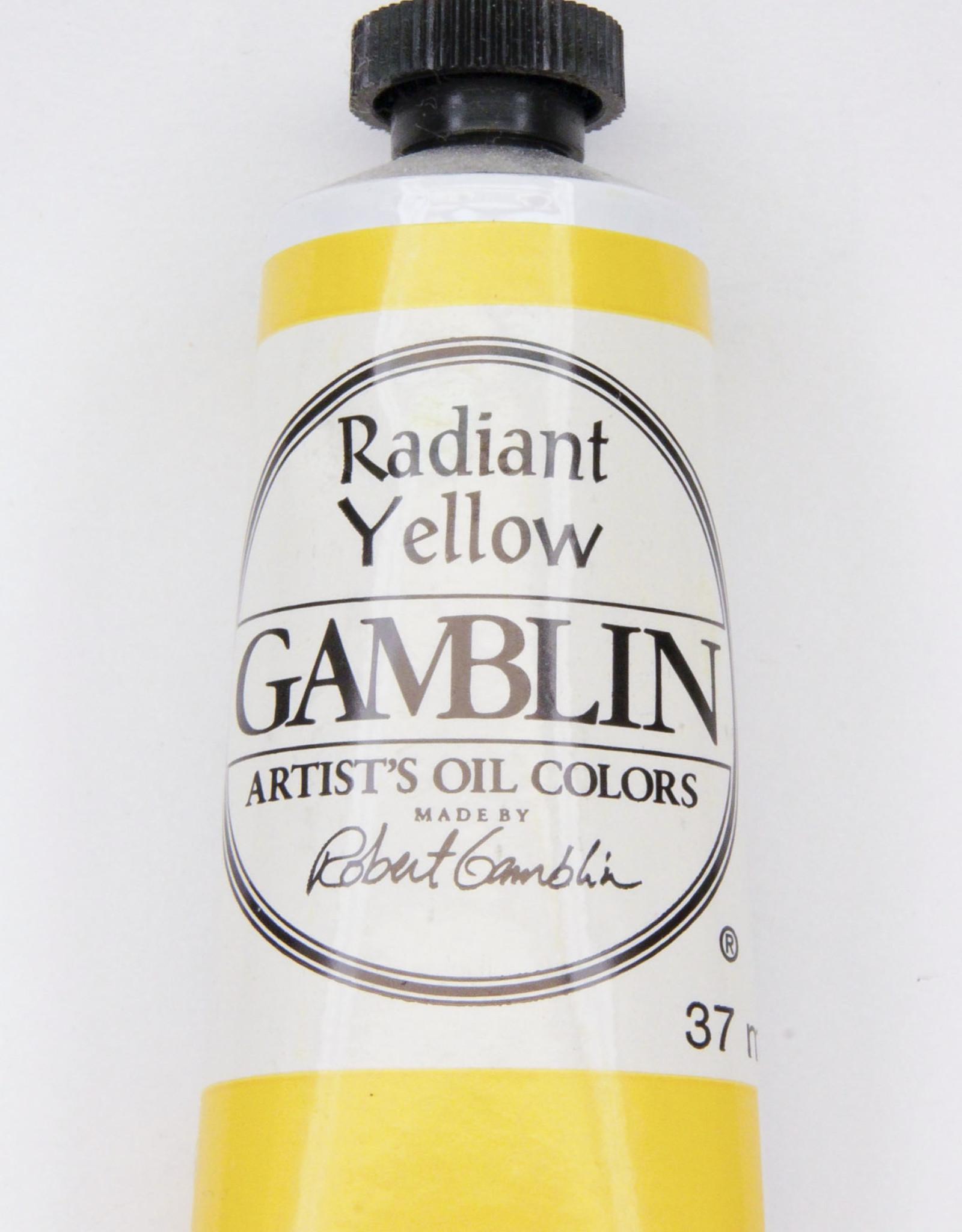 Gamblin Oil Paint, Radiant Yellow, Series 3, Tube 37ml