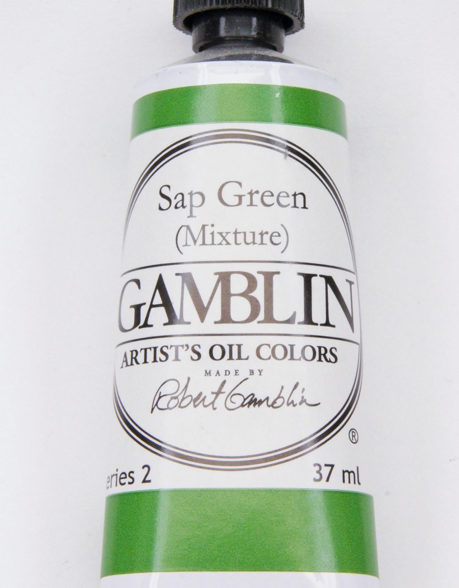 Gamblin Oil Paint, Sap Green (mixture) Series 2, Tube 37ml