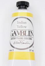 Gamblin Oil Paint, Indian Yellow, Series 3, Tube 37ml