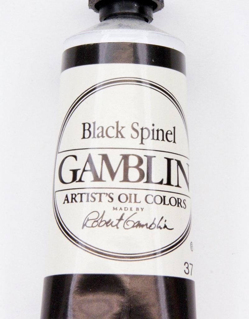Gamblin Oil Paint, Black Spinel, Series 4, Tube 37ml