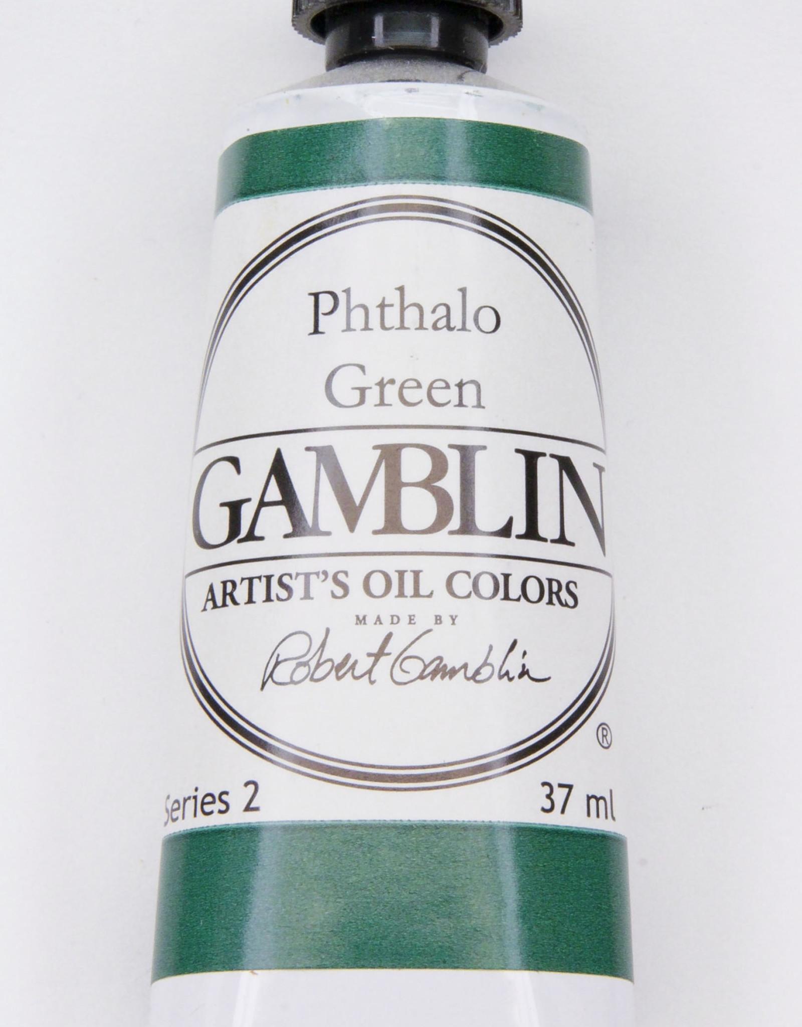 Gamblin Oil Paint, Phthalo Green, Series 2, Tube 37ml