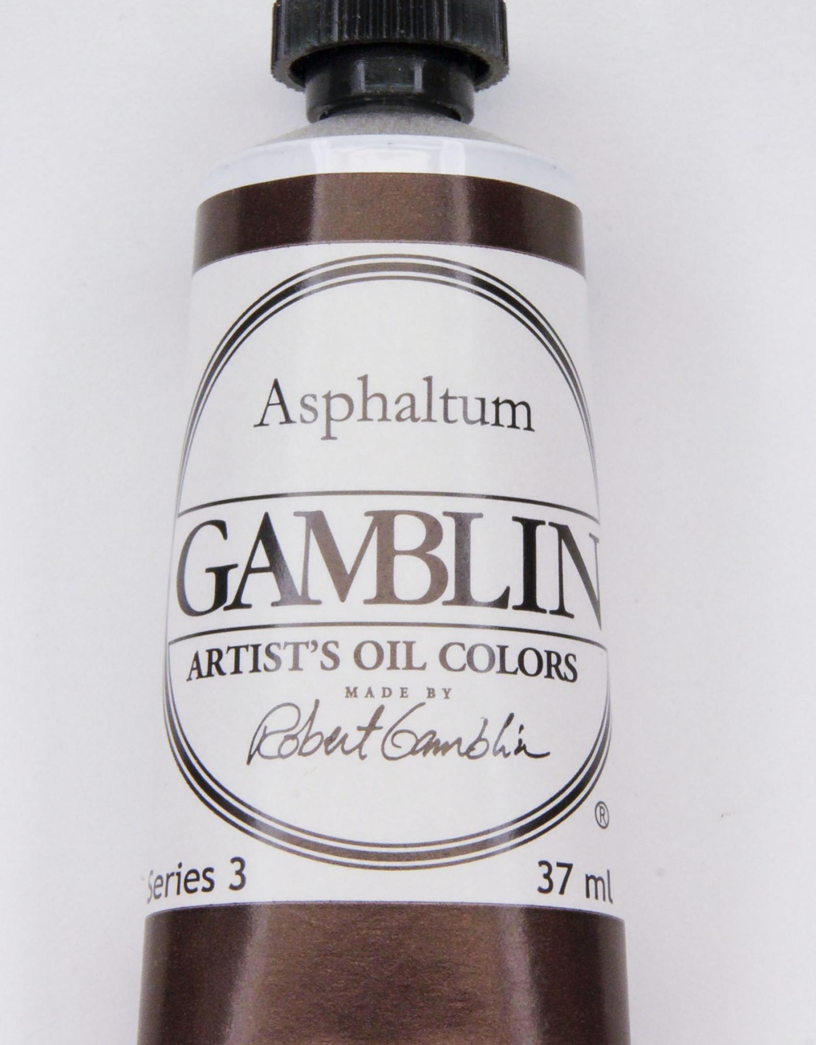 Gamblin Oil Paint, Asphaltum, Series 3, Tube 37ml