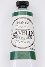 Gamblin Oil Paint, Phthalo Emerald, Series 2, Tube 37ml