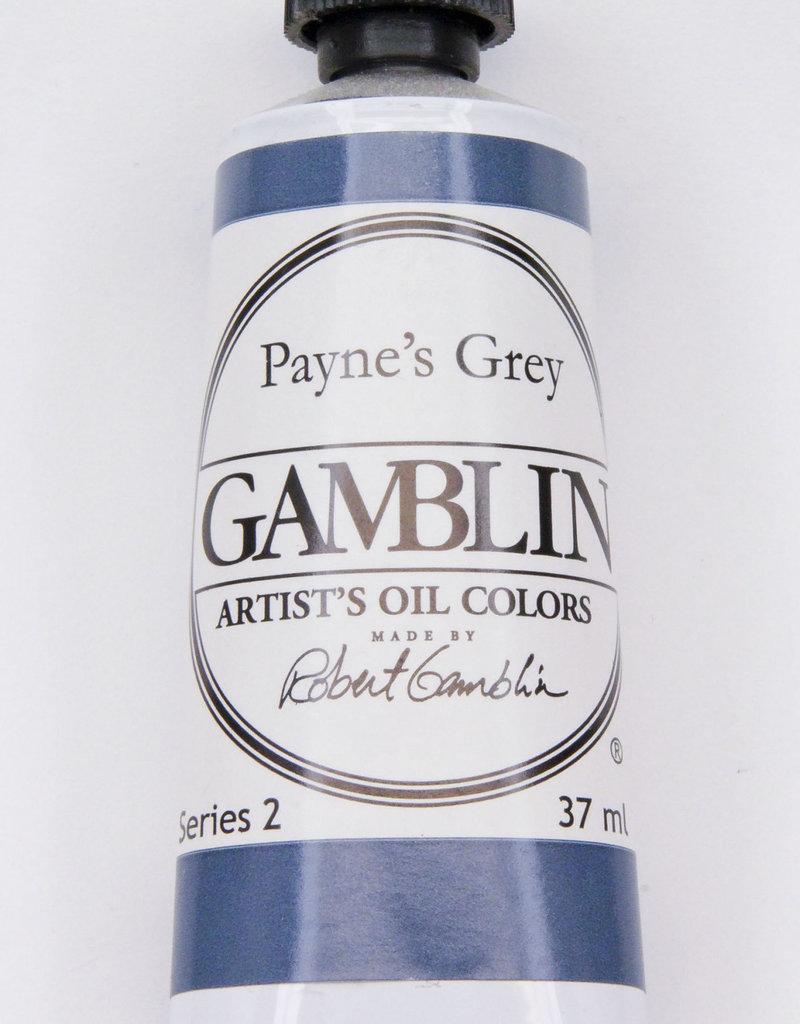 Gamblin Oil Paint, Payne's Grey, Series 2, Tube 37ml