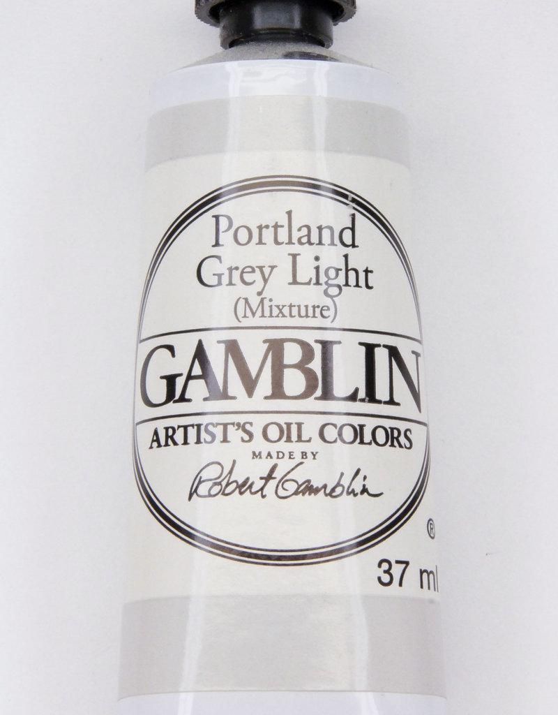 Gamblin Oil Paint, Portland Grey Light, Series 2, Tube 37ml