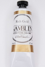 Gamblin Oil Paint, Rich Gold, Series 4, Tube 37ml