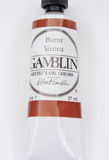 Gamblin Oil Paint, Burnt Sienna, Series 1, Tube 37ml