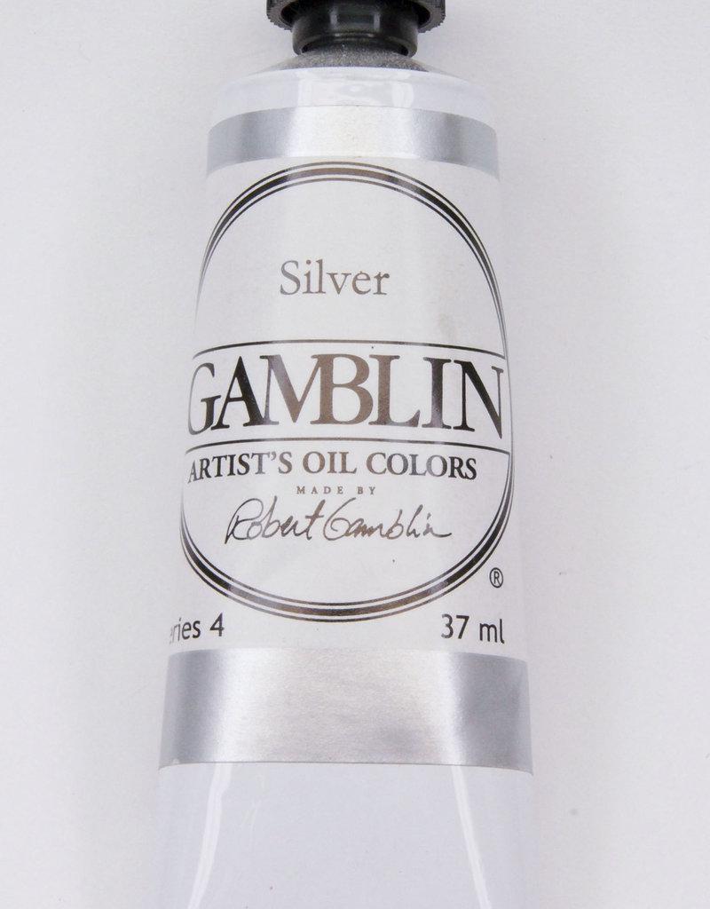 Gamblin Oil Paint, Silver, Series 4, Tube 37ml