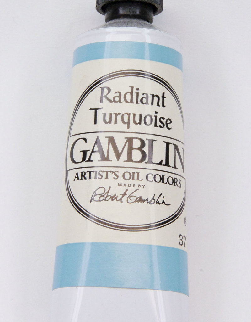 Gamblin Oil Paint, Radiant Turquoise, Series 2, Tube 37ml
