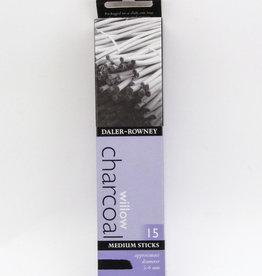 Willow Charcoal, Medium Size, 15 Sticks