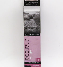 Willow Charcoal, Thick Size, 5 Sticks