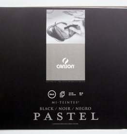 "Domestic Canson Pastel Black Mi-Teintes Sketch Book 12"" X 16""  16 pages"