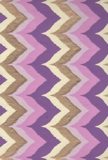 """Wavy Chevron with Purple, Pink and Gold, 22"""" x 30"""""""