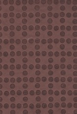 """Embossed Dots Cocoa Brown, 19"""" x 28"""""""