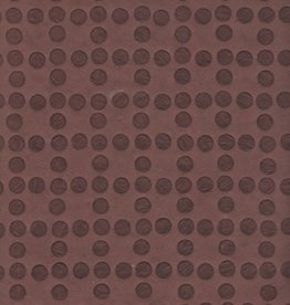 """Nepal Embossed Dots Cocoa Brown, 19"""" x 28"""""""