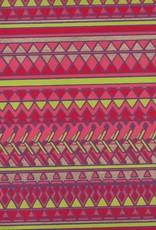 "Egyptian Diamond Design, Red, Orange, Lime, Gold on Purple, 22"" x 30"""