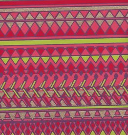 "Egyptian Diamond Design, Red, Orange, Lime, Gold on Purple, 22"" x 30"""