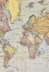 "Cavallini World Map, Cavallini Poster Print, 20"" x 28"""