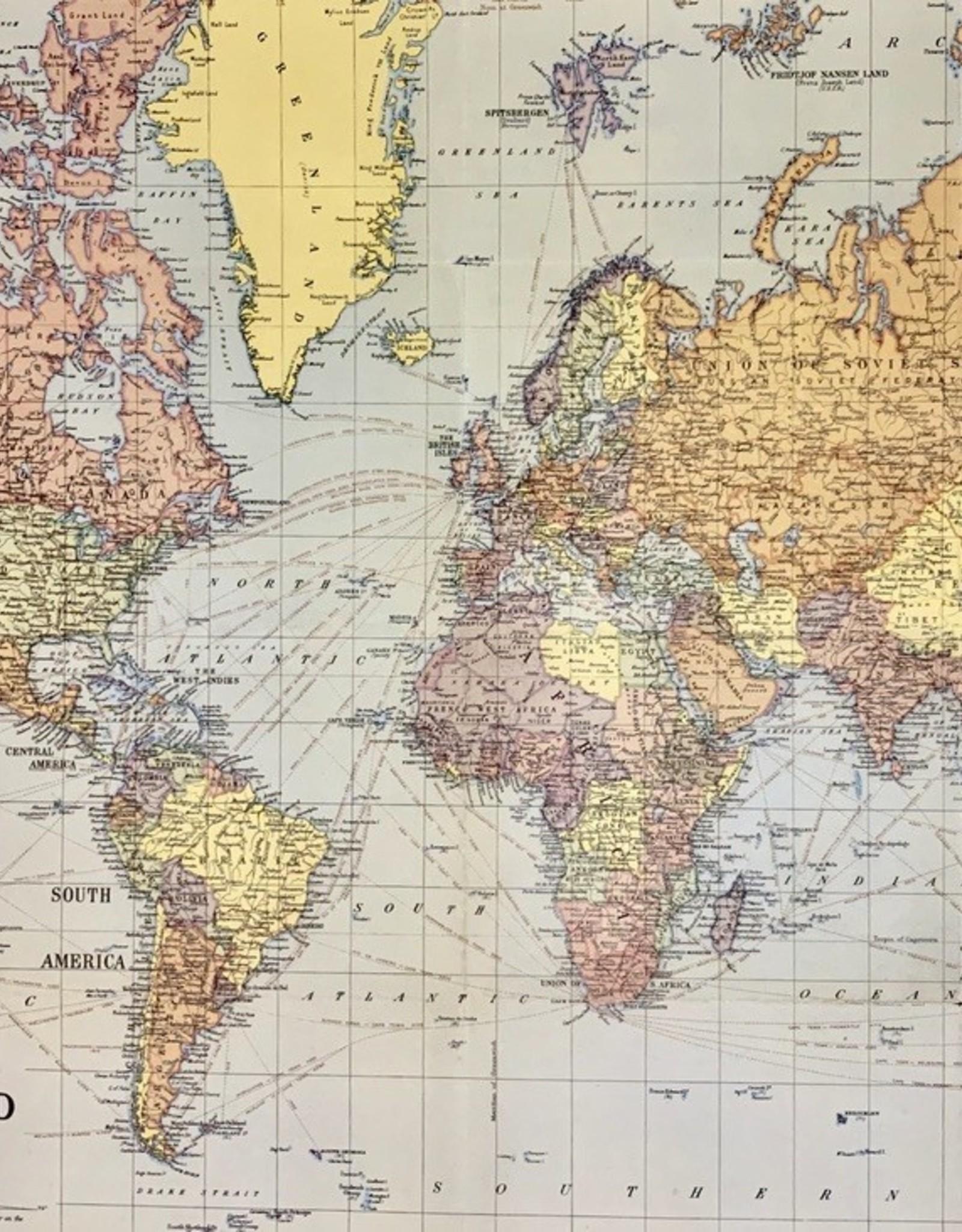 Portugal Map Decorative Paper Sheet 20x28 Cavallini /& Co