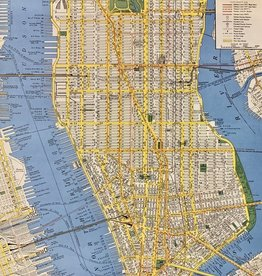 "Cavallini New York City Map, Cavallini Poster Print, 20"" x 28"""