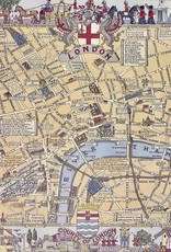 "Cavallini London Map, Cavallini Poster Print, 20"" x 28"""