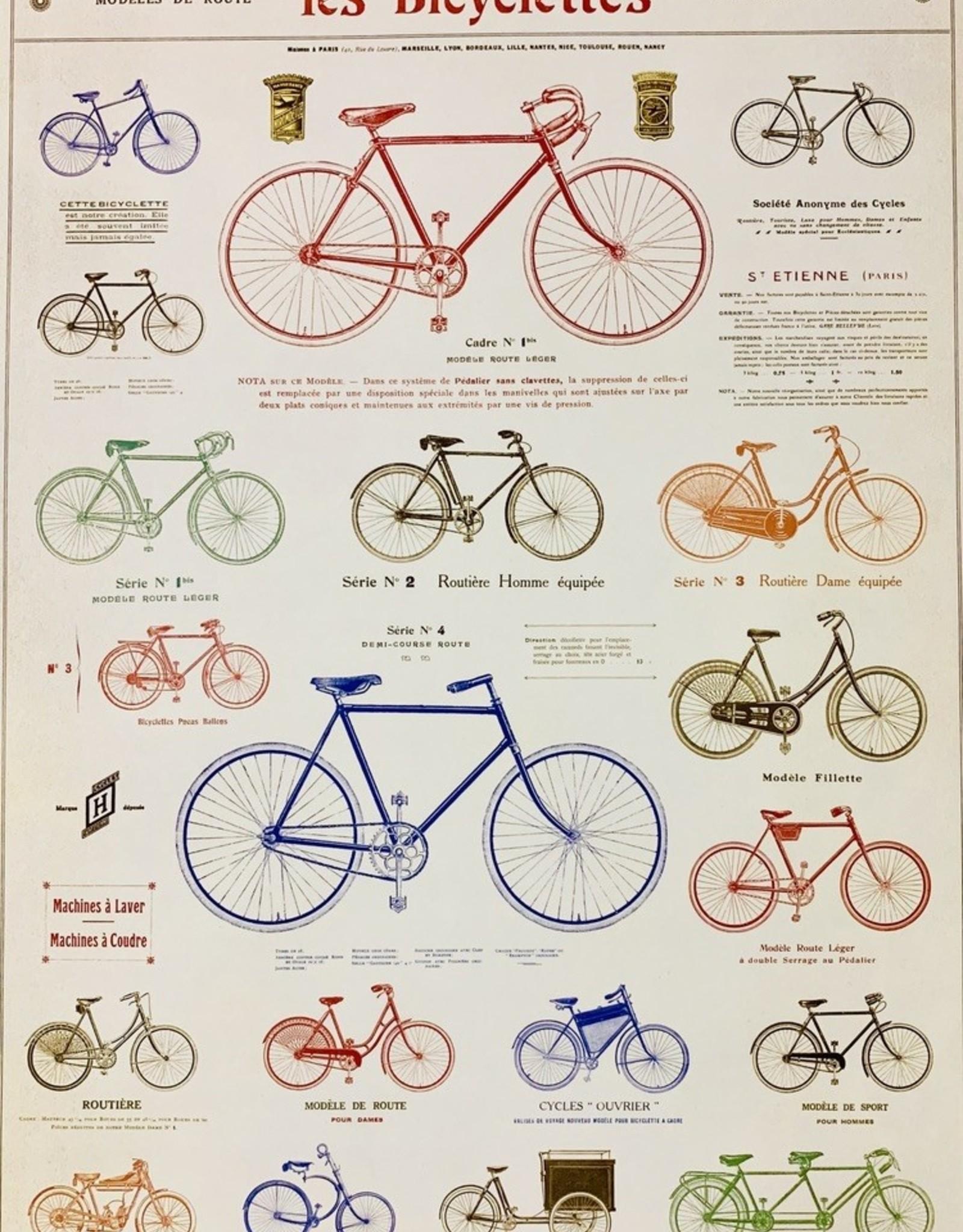 "Cavallini Les Bicycle, Cavallini Poster Print, 20"" x 28"""