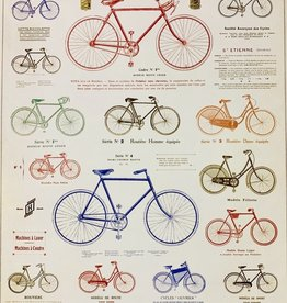 "Cavallini Les Bicycle, Poster Print, 20"" x 28"""