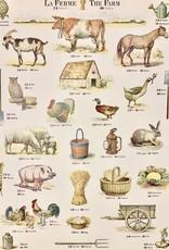 "Cavallini La Ferme, The Farm, Poster Print, 20"" x 28"""
