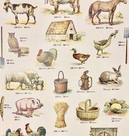 "Cavallini La Ferme  The Farm, Cavallini Poster Print, 20"" x 28"""