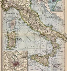 "Cavallini Italy Map, Poster Print, 20"" x 28"""