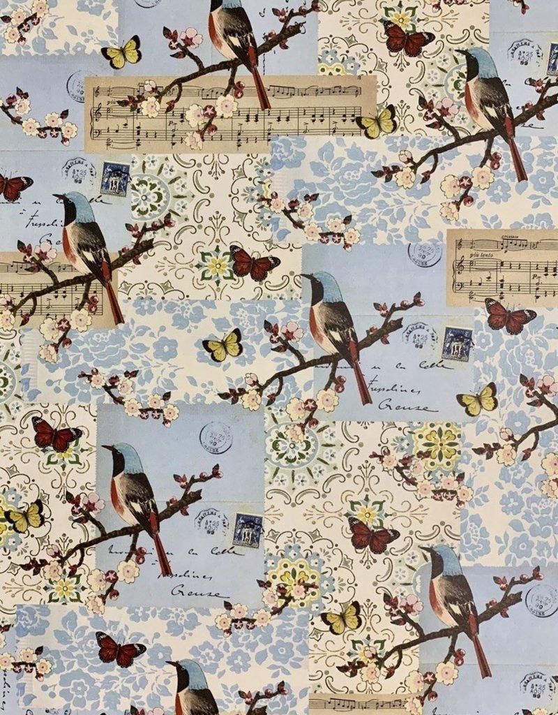 "Cavallini Flora & Fauna Bird, Poster Print, 20"" x 28"""