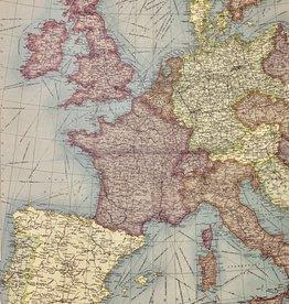 """Cavallini Europe Map Vertical, Cavallini Poster Print, 20"""" x 28"""""""