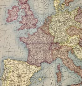 "Cavallini Europe Map Vertical, Poster Print, 20"" x 28"""