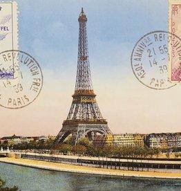 "Italy Cavallini Print, Eiffel Tower Horizontal, 20"" x 28"""