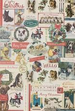 "Cavallini Christmas Dogs, Poster Print, 20"" x 28"""