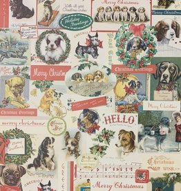 "Cavallini Christmas Dogs, Poster Print, 20"" x 28"""