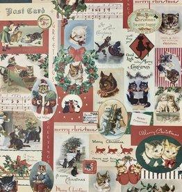 "Cavallini Christmas Cats, Cavallini Poster Print, 20"" x 28"""