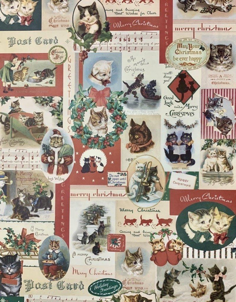 "Cavallini Christmas Cats, Poster Print, 20"" x 28"""