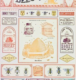 """Cavallini Bees & Honey, Poster Print, 20"""" x 28"""""""