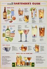 """Cavallini Bartender Guide, Cavallini Poster Print, 20"""" x 28"""""""