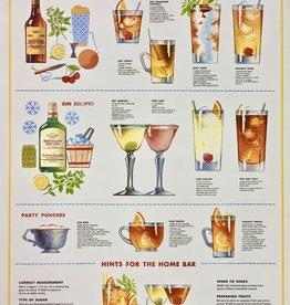 "Italy Cavallini Print, Bartender Guide, 20"" x 28"""