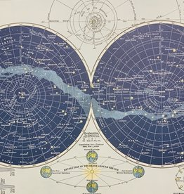 "Cavallini Celestial Map, Poster Print, 20"" x 28"""
