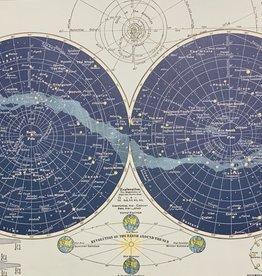 "Italy Cavallini Print, Celestial Map 20"" x 28"""