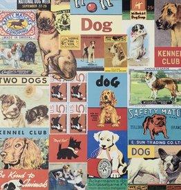 """Cavallini Vintage Dogs, Cavallini Poster Print, 20"""" x 28"""""""