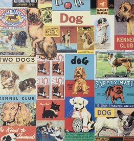 "Cavallini Vintage Dogs, Poster Print, 20"" x 28"""