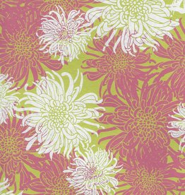 "Laurelai Chrysanthemum on Lime, 20"" x 28"""