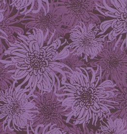 "Laurelai Chrysanthemum on Purple, 20"" x 28"""